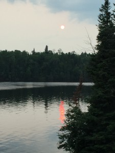 sunset,lake of the woods